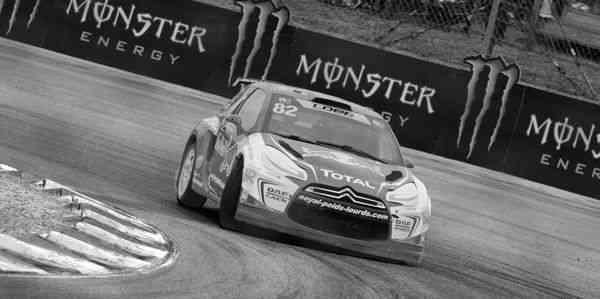 photo de Sébastien Loeb au rallycross de Lohéac